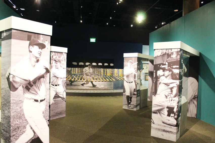 "The ""Play Ball!"" exhibit at the History Colorado Center in downtown Denver features an extensive collection of baseball artifacts from bats to gloves to jerseys to tell the history of America through the game. The exhibit is open throughout the baseball season and the museum's hours are 10 a.m. to 5 p.m. daily."