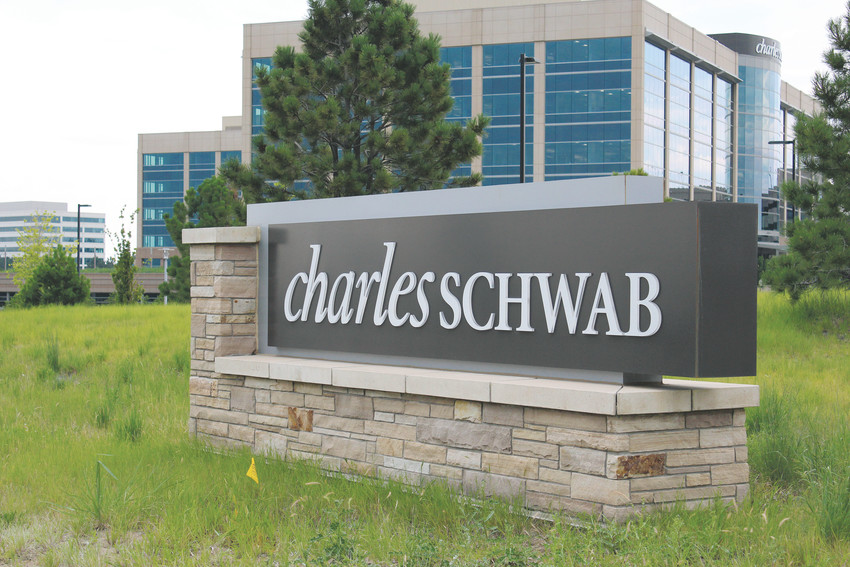 The Charles Schwab campus in RidgeGate employs about 4,000 people and is one of the largest Schwab campuses in the country.