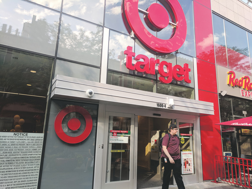 A new 30,000-square-foot Target opened on July 22 on the 16th Street Mall. The store is two floors.