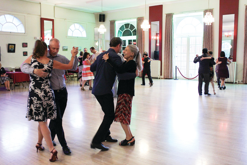 Tango Colorado holds its Tuesday night lessons in the Denver Turnverein in Uptown. The building is more than 150 years old and different organizations offer various dance classes for every day of the week.