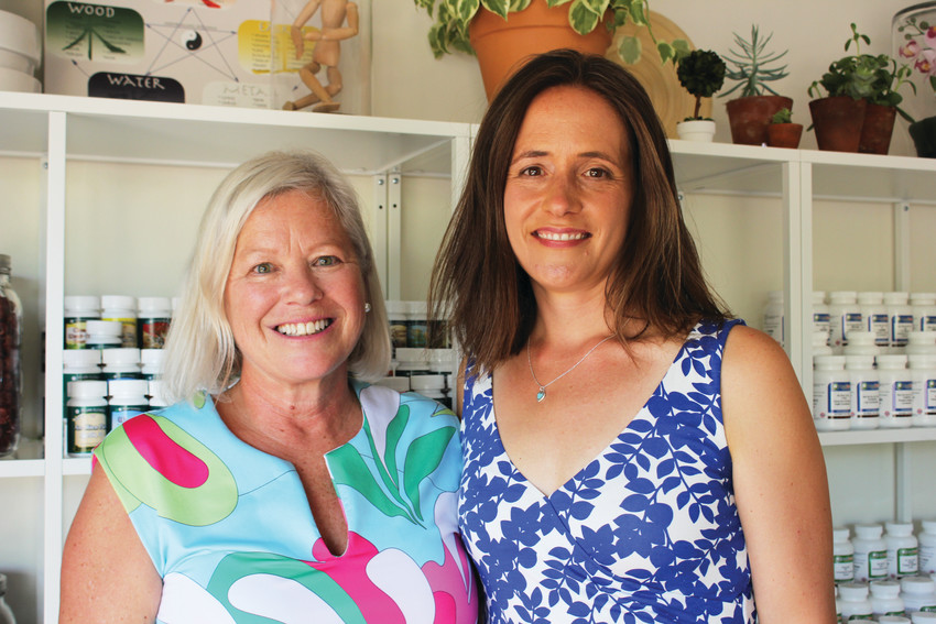 Dr. Christine Cannon, left, and Melissa Radcliffe, right, own The Contemporary Herbalist which opened near Washington Park in June.
