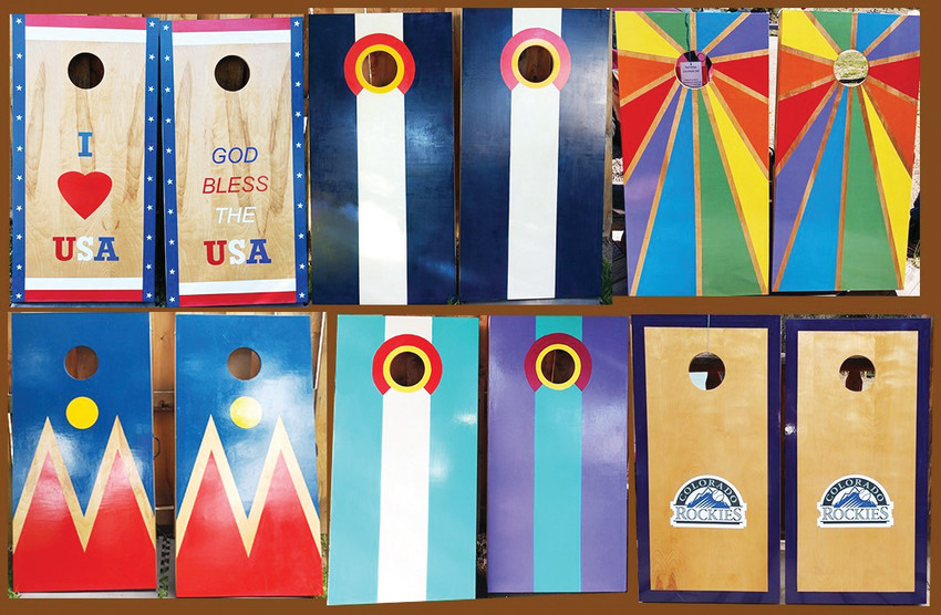 The couple behind Denver Corn Hole Games builds the boards out of their garage in the University neighborhood. The Deans do customized designs and sell them online.