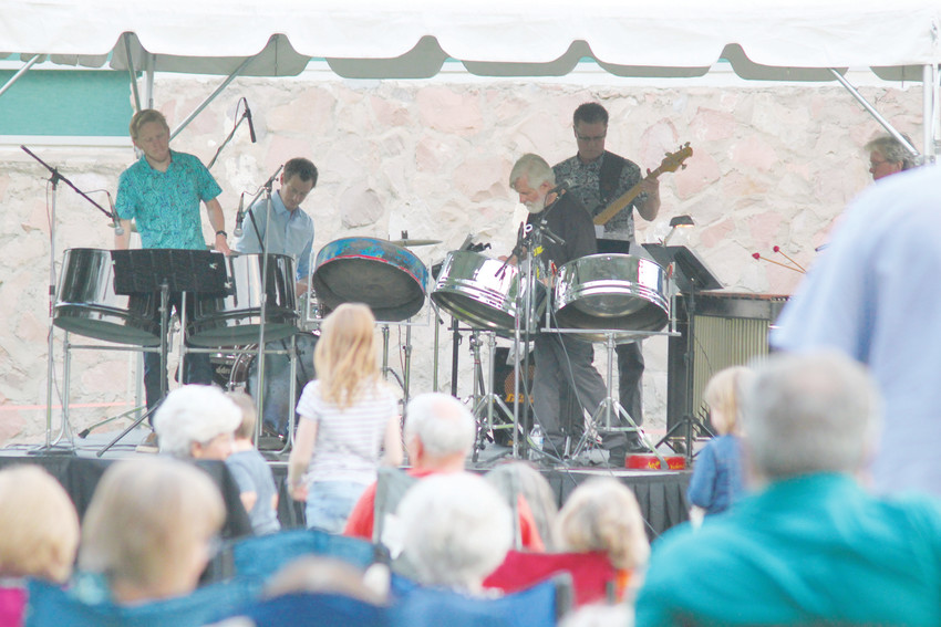 Pan Jumbies, a Caribbean steel pan band, got things shaking at the Littleton Museum's last summer concert of the year.