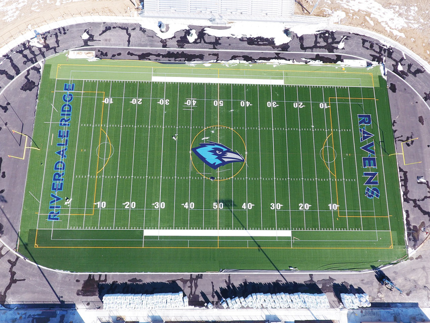 Riverdale Ridge includes a brand new and unused athletic field and stadium along with the new building. Classes at the school begin Aug. 14.