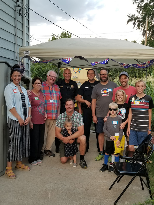Arvada City Councilman John Marriott and friends hosted a National Night Out block party on Flower Street.