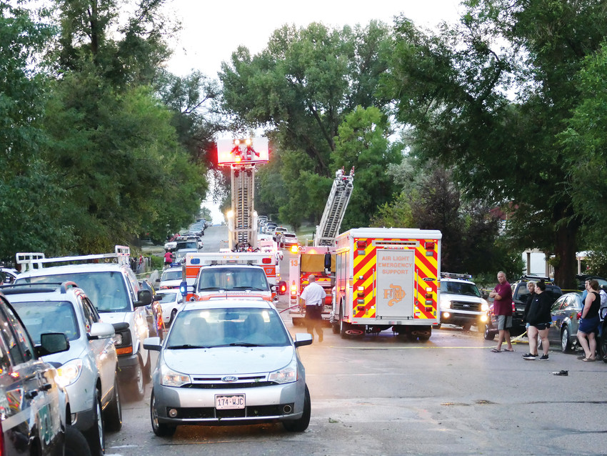 Emergency responders were on scene at the 4600 blocks of South Acoma and Bannock streets in Englewood following the severe storm that brought major flooding on July 24.