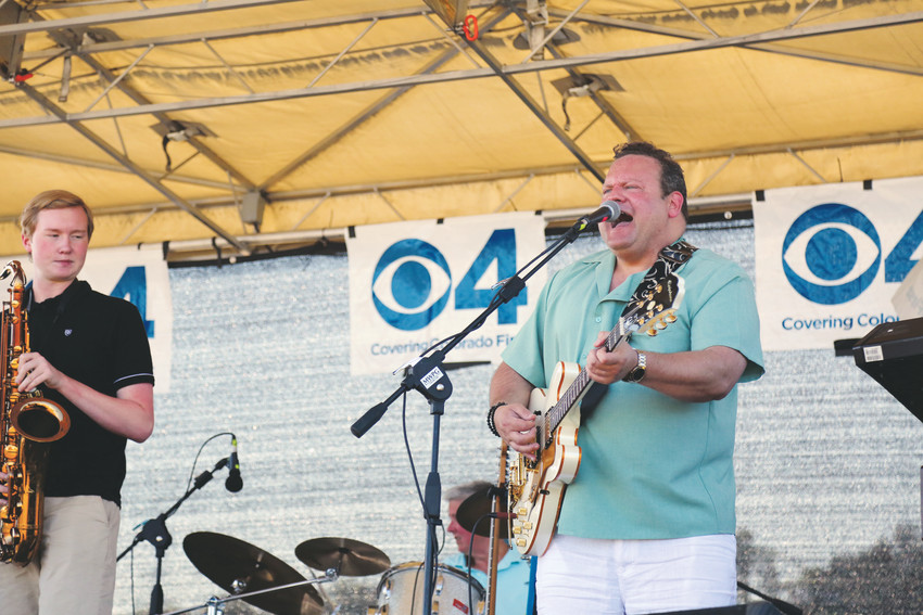 Bill Bronchick, of The Classic Vinyl Band, entertains guests at the Arvada Center Arts and Ales event Aug. 11.