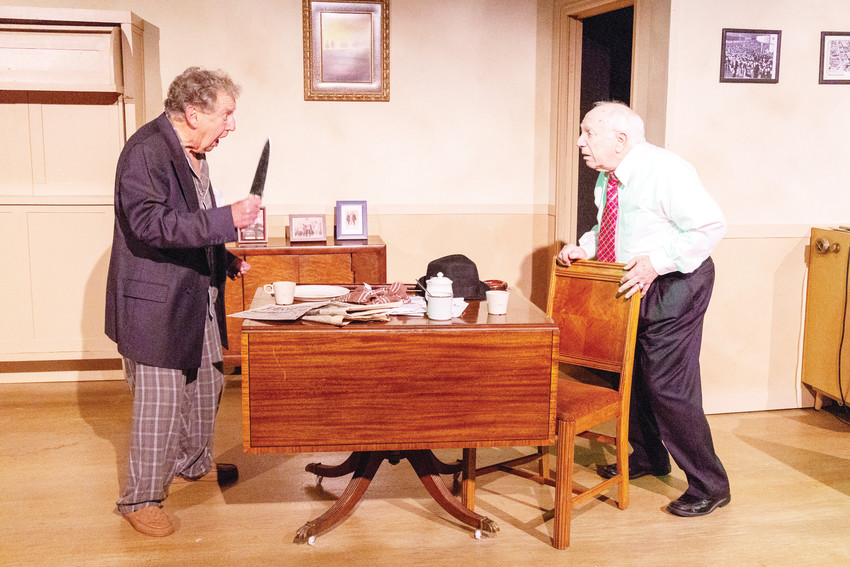 "Veteran Colorado actors Roger l. Simon and Joey Wishnia perform as Willie Clark and Al Lewis in Neil Simon's ""The Sunshine Boys"" at the Aurora Fox."