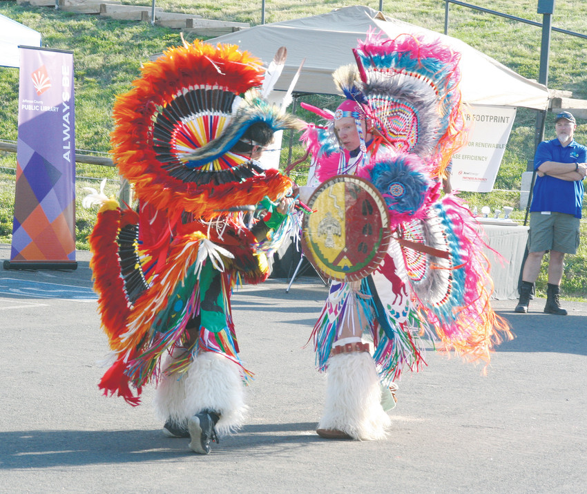 The Westernaires perform interpretive Indian dances on Aug. 10 at the third annual Jeffco Fair & Festival.
