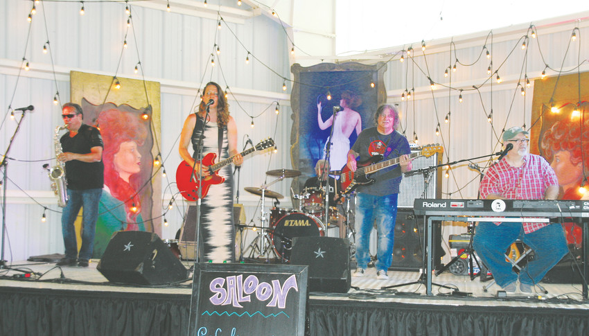 Eef and the Blues Express performs on the Saloon Stage during the Jeffco Fair & Festival on Aug. 10 at the Jefferson County Fairgrounds in Golden.