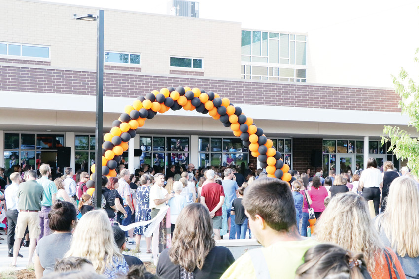 A crowd of parents, students and faculty members estimated at about 500 gathered Aug. 7 for the dedication and open house at newly constructed Clayton Elementary School. Clayton and Hay World School opened for the 2018 school year and are the first new elementary schools built in the Englewood district since the 1960s.