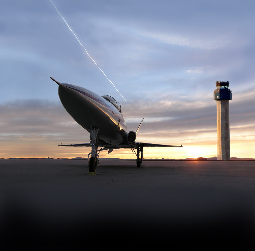 The sun rises over at the tower at the Watkins-based Colorado Air and Spaceport. An FAA license approval has cleared the way for the port to begin hosting takeoffs and landings for spacecraft.