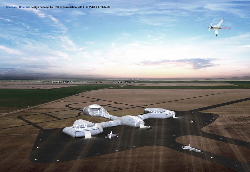 An artists rendering of what the Colorado Air and Spaceport could look like when it's ready for landing spacecraft.