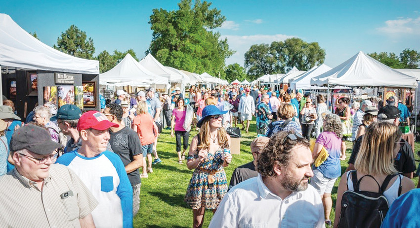 Art lovers visited the 2017 version of the Affordable Art Festival, which will repeat on Aug. 26 on the west lawn at Arapahoe Community College, Littleton.