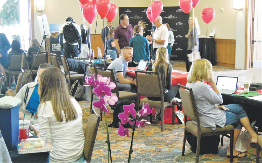 Representatives for many retail stores that are scheduled to open Sept. 27 at the new Denver Premium Outlet Mall at 136th and Interstate 25 were on hand Aug. 17 at a Westminster job fair, looking for employees.