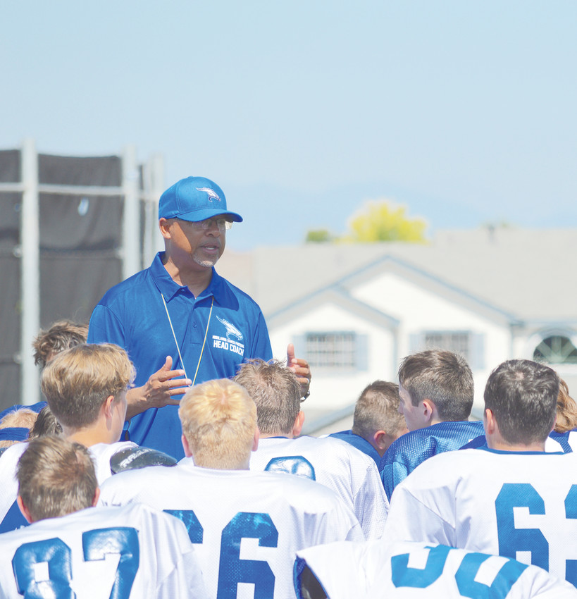 John Trahan comes from Smoky Hill to be the new head football coach at Highlands Ranch. He says winning is about a lot of little things —being on time to practice, doing the right things and not getting too many personal foul penalties.