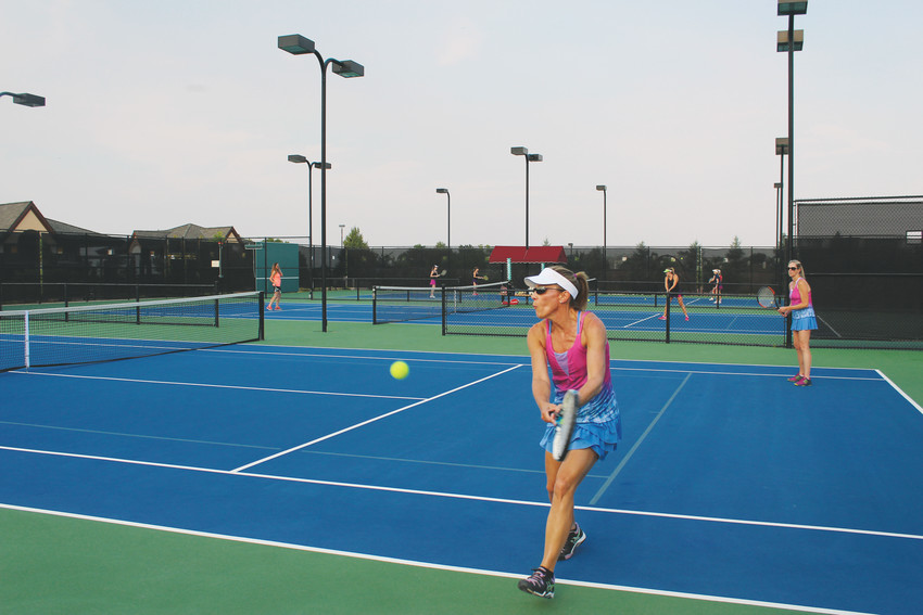 A few days a week, women from South Suburban Parks and Rec compete against each other in league tennis matches at the Tennis Center at the Lone Tree Golf Club. The rec center offers opportunities for matches and lessons for all skill levels.