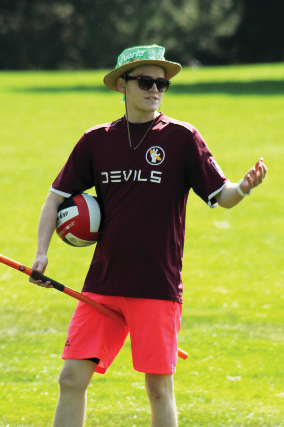 Brentlee Cass acted as the referee for a scrimmage with the Mile High Quidditch Club at Cheesman Park. To better understand the game, Cass said he tried out multiple positions.