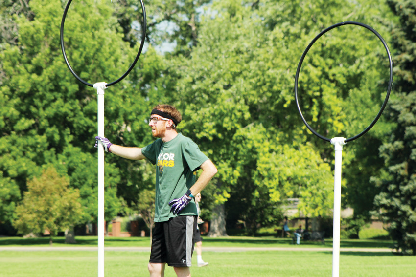 Tim Herron takes a quick break from a quidditch scrimmage in Cheesman Park. Herron moved to Colorado from Texas.
