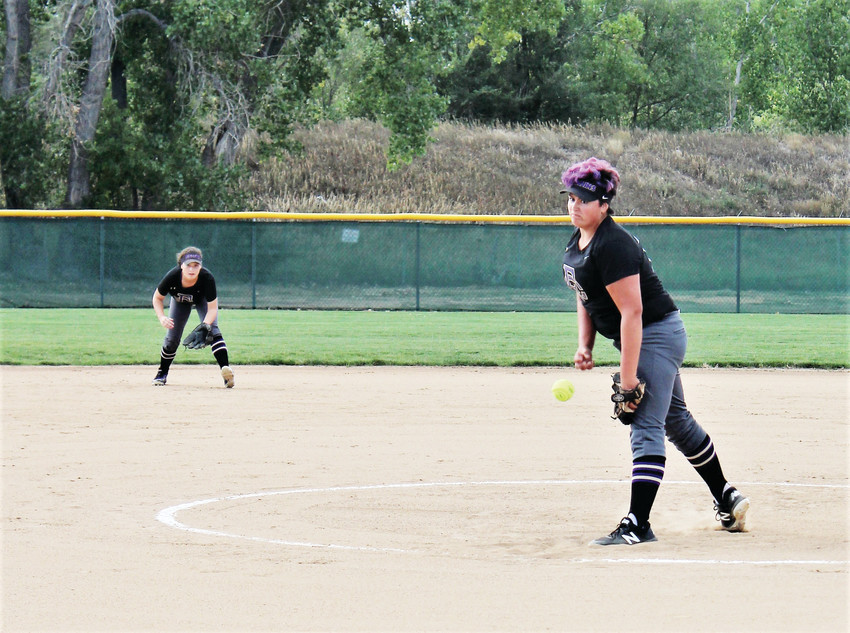 Fort Collins starting pitcher Bradie Strang delivers a pitch against Westminster Aug. 28 on her way to a shutout victory.