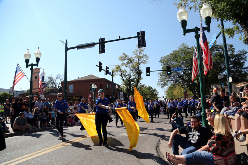Area high school marching bands made up a large percentage of the parade lineup.