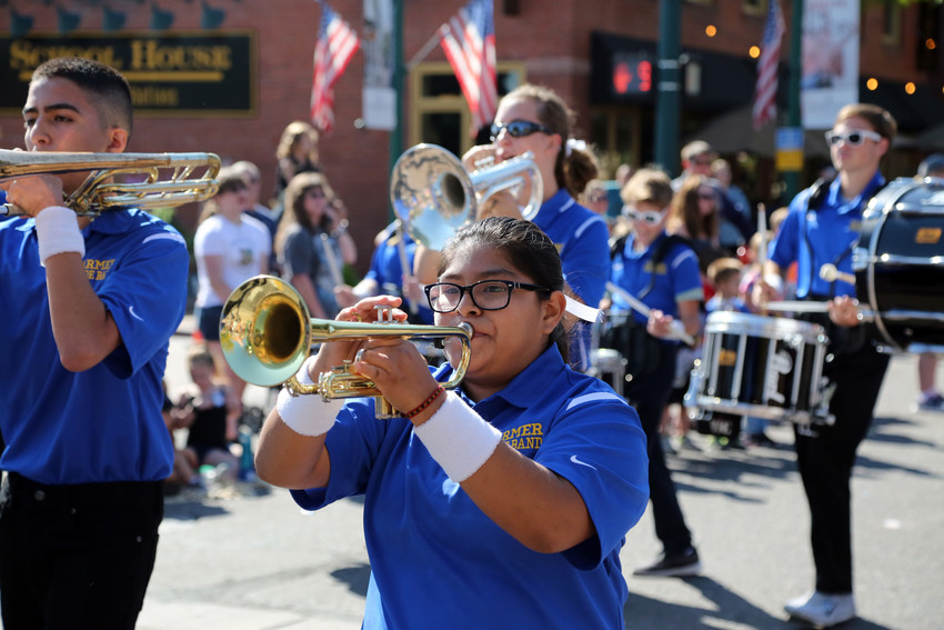 The Wheat Ridge Farmers marching band was among the performers at the 2018 Harvest Festival Parade.