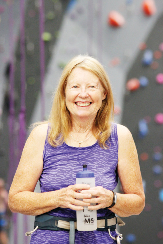 Sharon Pearson didn't start rock climbing until she was 47.