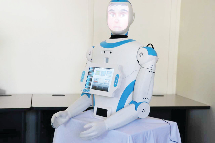 Ryan, the artificial intelligence robot, was developed by University of Denver researchers to help senior patients with dementia. Mohammad Mahoor, a DU faculty member, will present Ryan at the Sept. 29 Living and Aging Well seminar at the Lone Tree Arts Center.