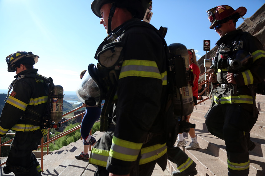 More than 45 fire departments from throughout the country gathered at Red Rocks on Sept. 11 to participate in the 10th annual Memorial Stair Climb.