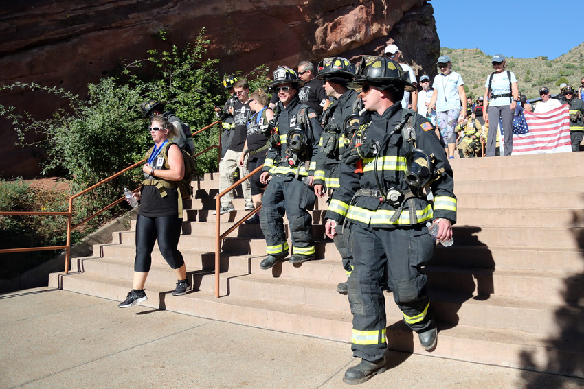 More than 2,300 people from 25 states and Canada attended this years stair climb at Red Rocks.