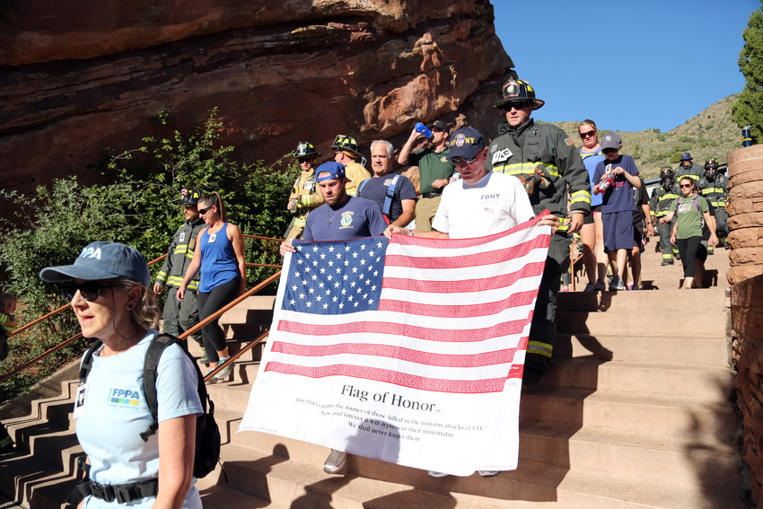 The Flag of Honor was carried as tribute to those killed in the terrorist attacks on Sept. 11, 2001.