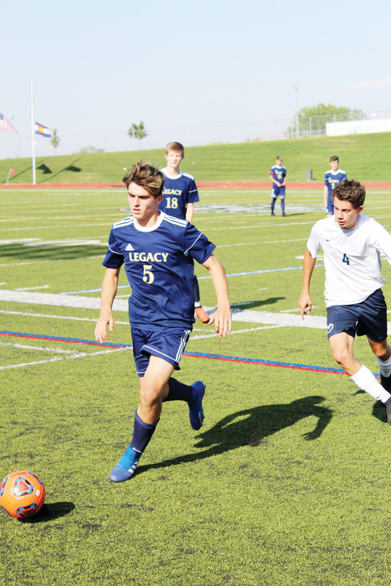 Legacy junior Blake Hansen pursues the ball against Ralston Valley at North Stadium Sept. 4.