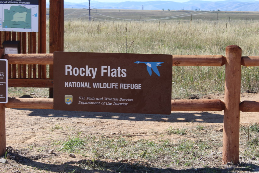 One of the trailhead signs to the newly-opened trails at the Rocky Flats Wildlife Refuge, which opened up on Sept. 15 over the objections of some area residents who worry radioactive and industrial waste that was used at the nearby Cold War weapons factory site makes the refuge trails unsafe to recreate on.