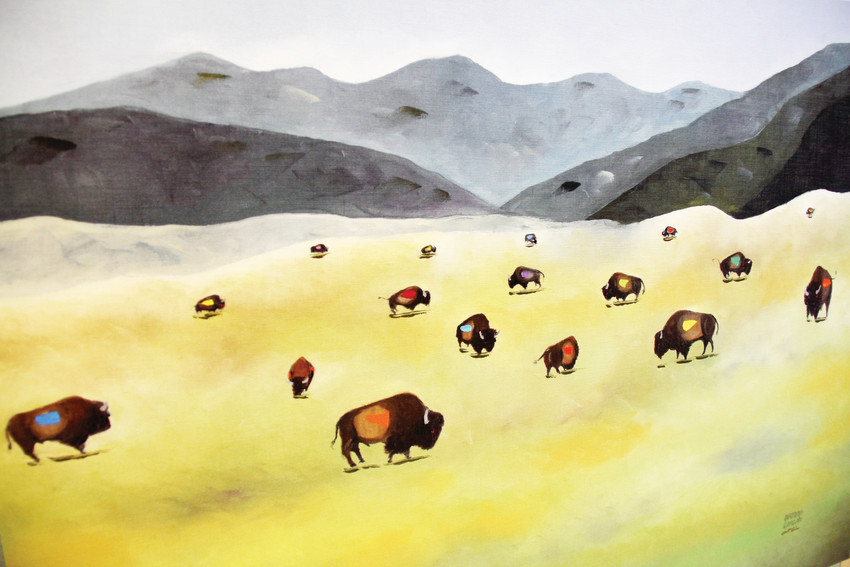 "The painting ""Where the Buffalo Roam"" on display Sept. 13 at Goodson Recreation Center in Centennial. Arturo Garcia, an artist from the Littleton area, draws inspiration from the wildlife of the American West."