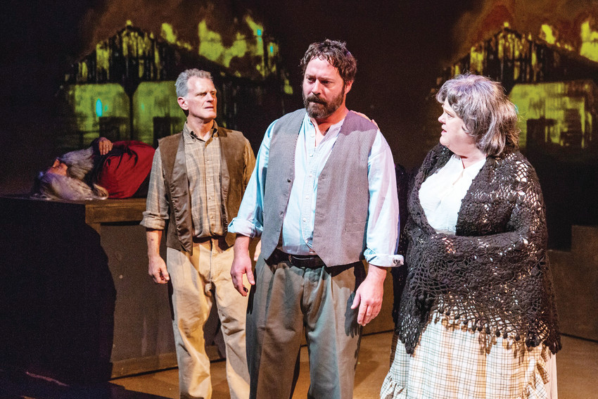 """Kentucky Cycle"" at Vintage Theatre includes cast members David Harms, Jeff Jesmer and Linda Suttle (Littleton)."