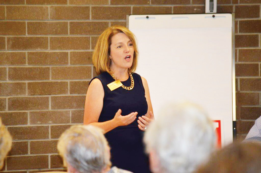 Democrat Shannon Bird talks about her upbringing during a candidate meet-and-greet Sept. 13 in Northglenn. Bird is seeking the State Representative seat in District 35 in November's ballot.