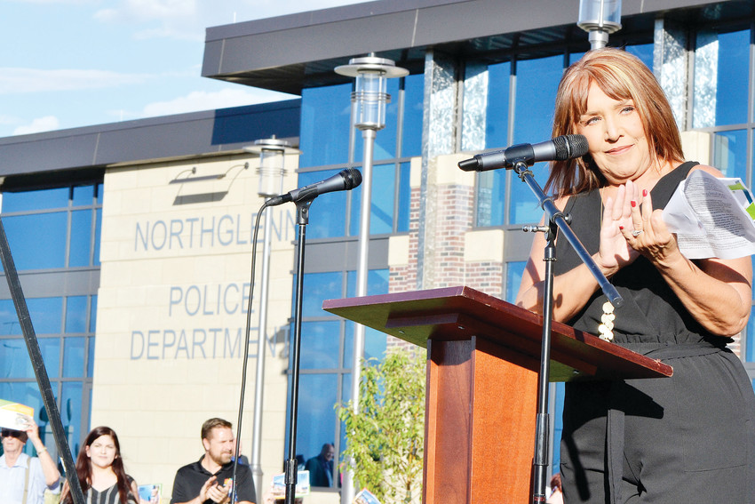Mayor Carol Dodge at the opening of the new Northglenn Justice Center in 2018, which includes the police department and municipal court at 50 W. Community Center Drive.