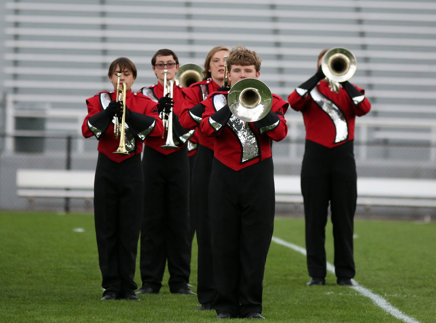 The Arvada High marching band won first place in Class 2A at the Jeffco Invitational held Sept. 17.