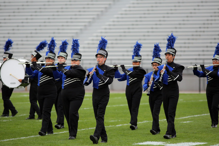 The Alameda marching band placed second in Class 2A at the Jeffco Marching Invitational Sept. 17.