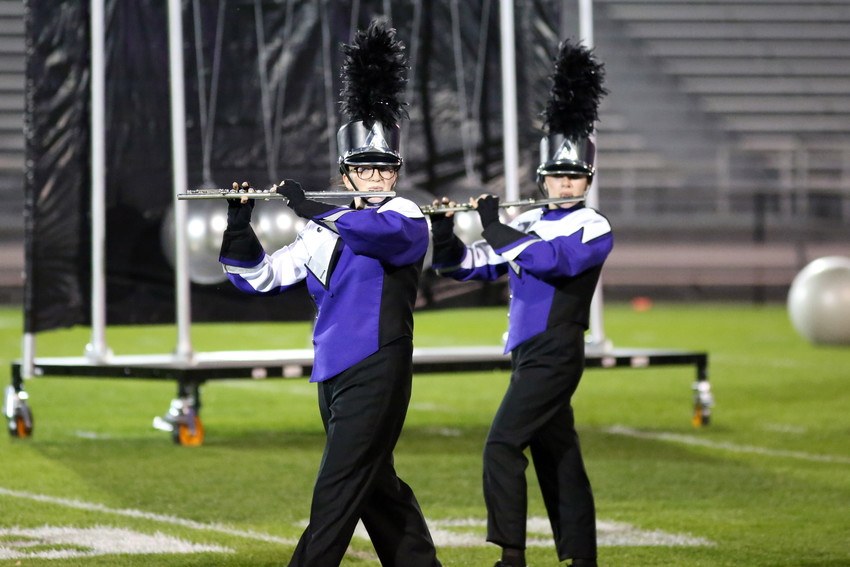 The Arvada West High marching band placed third in Class 5A at the Jeffco Marching Invitational.