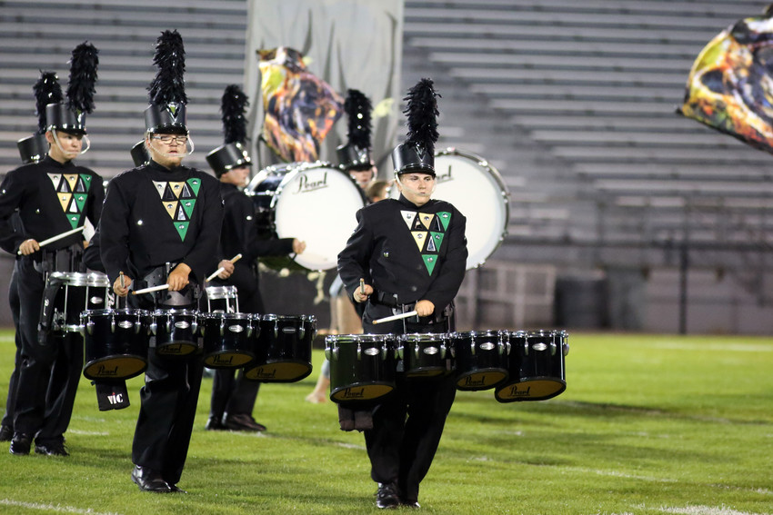 The Bear Creek marching band placed first in Class 4A at the Jeffco marching invitational.