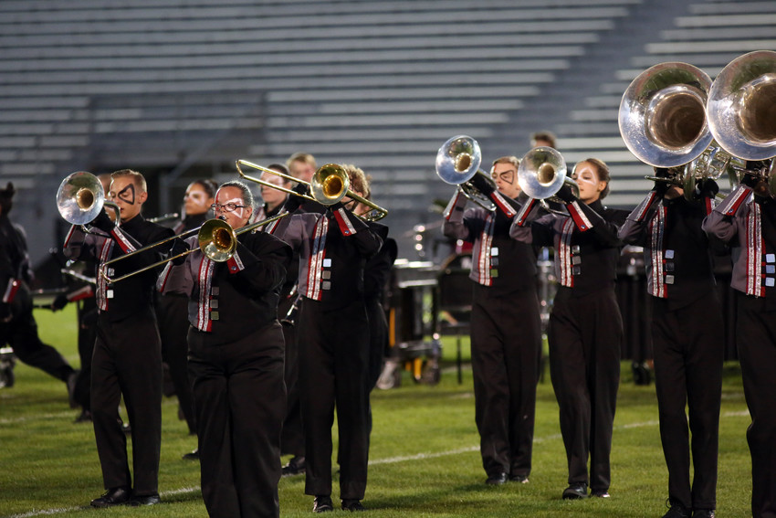 The Pomona High marching band's show was titled Unbalanced.