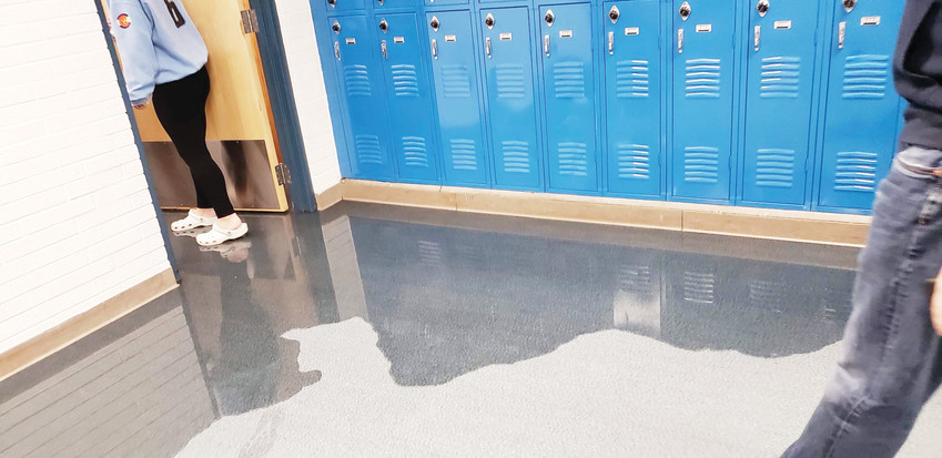 An early September storm caused flooding at Wheat Ridge High School.