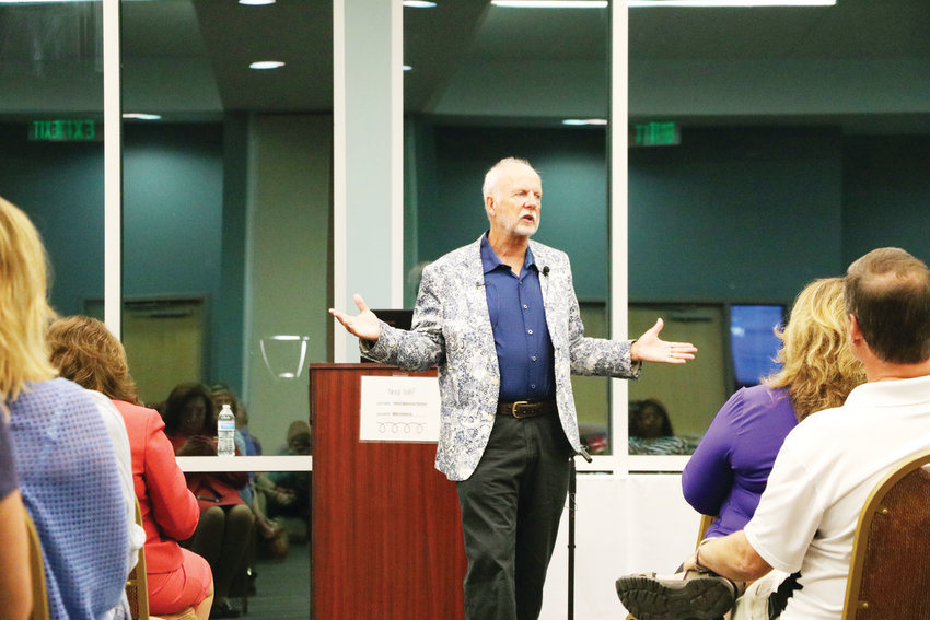 School crisis expert Dr. Scott Poland talks to residents of the south metro Denver area about teen suicide prevention and parenting in the digital age. Hosted by three Douglas County organizations, the special event took place Sept. 19 at the Family Resource Pavilion in east Centennial.
