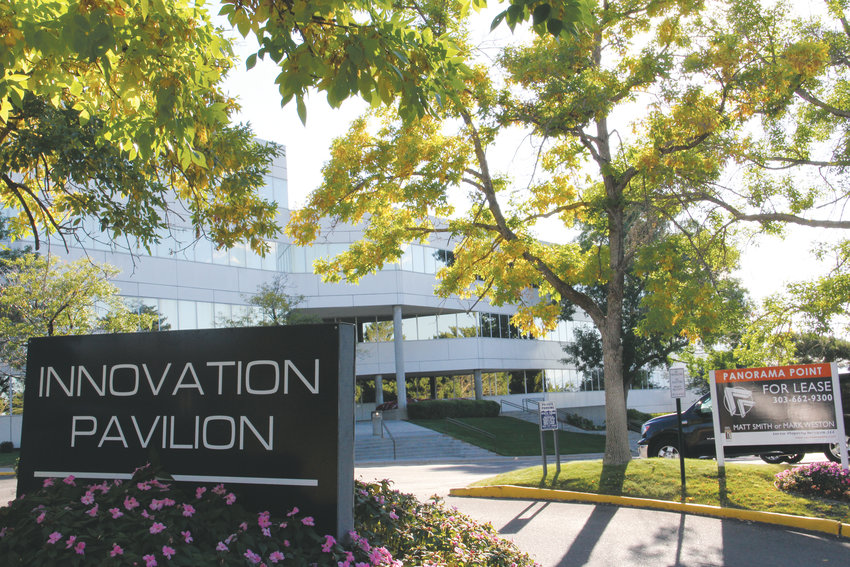 The outside of Innovation Pavilion's headquarters at 9200 E. Mineral Ave. in Centennial Sept. 20. The company offers meeting, desk and office areas geared toward startups.