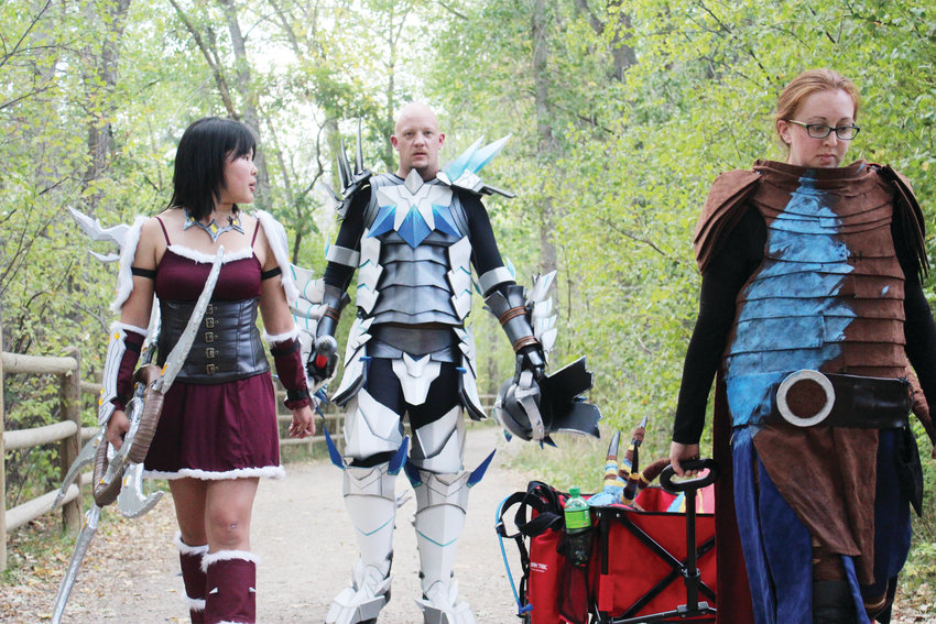 Elena Mathys, left, Chris Clarke, center, and Jennifer Losty, right, are the founders of Colorado Academy of Cosplay, a group dedicated to teaching beginner cosplayers in an effort to keep cosplay an art form.