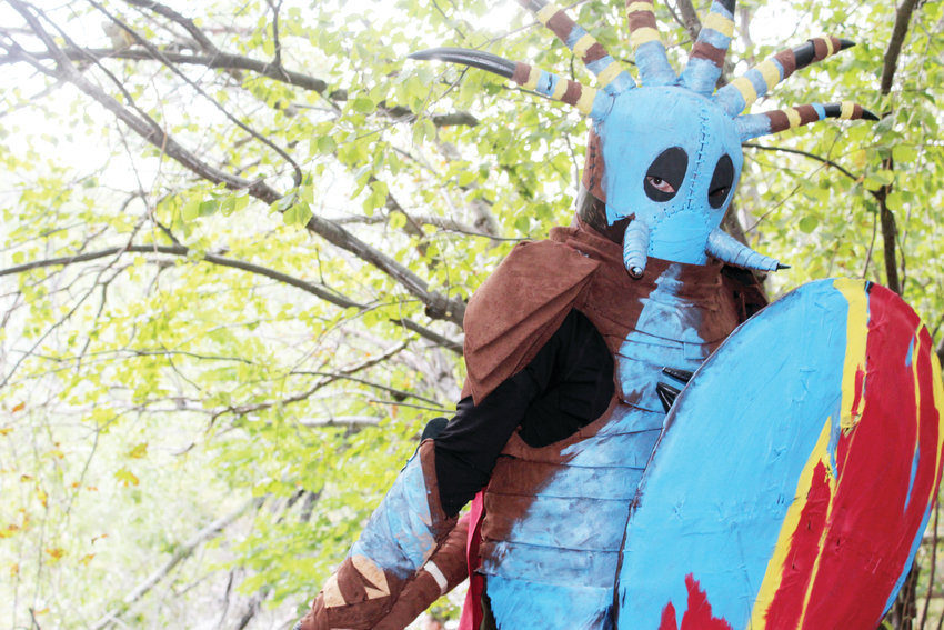 "Jennifer Losty cosplays as Valka from the movie ""How to Train Your Dragon 2."" Losty said she chose Valka based on a connection to the character."