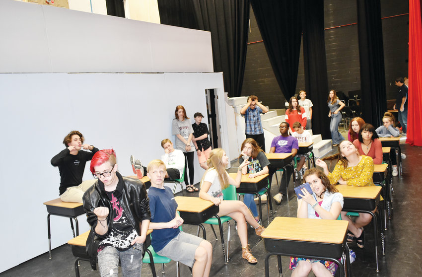"ThunderRidge High School Theatre Students behaving as their characters would in ""Up the Down Staircase"" to be performed Sept. 27-29."