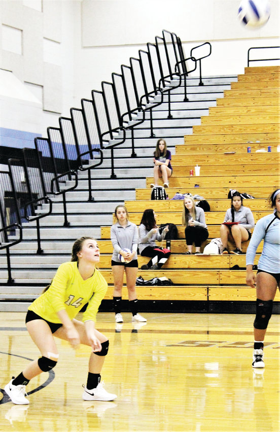 Mountain Range senior Alexi Vaughn sets up her teammates Sept. 18 at home against Legacy.