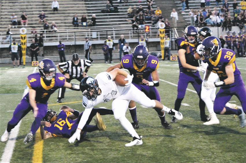 Wolves' senior running back Nic Lopez spins his way deep into Panthers' territory Sept. 21 at Boulder High School.
